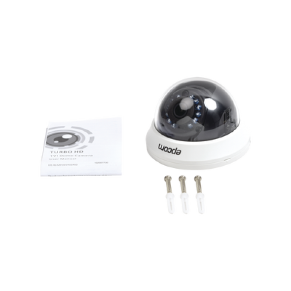 Cámara Domo TurboHD 2 Mpx lente 2.8 mm IR 20m Uso interior OSD color blanco