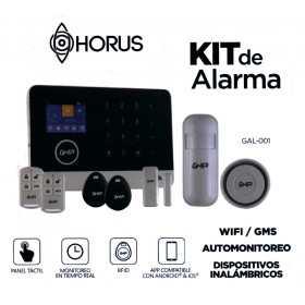 Kit de alarma WIFI con panel touch y pantalla a color GSM