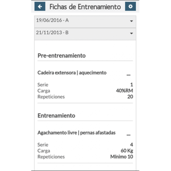 X-FITNESS APP smartphone Anual